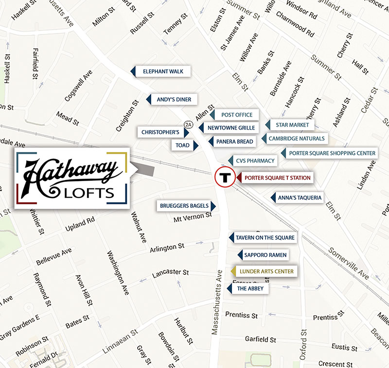 Hathaway Lofts Map Small
