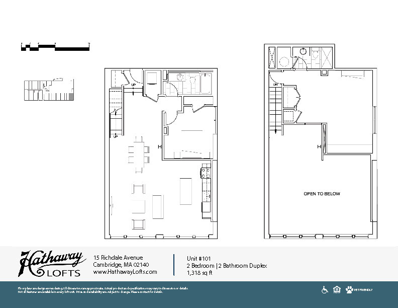 Unit 101 - 2 Bed | 2 Bath Duplex - Hathaway Lofts