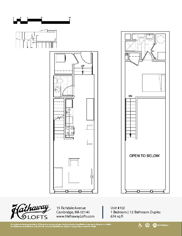 Unit 102 - 1 Bed | 1 Bath - Hathaway Lofts