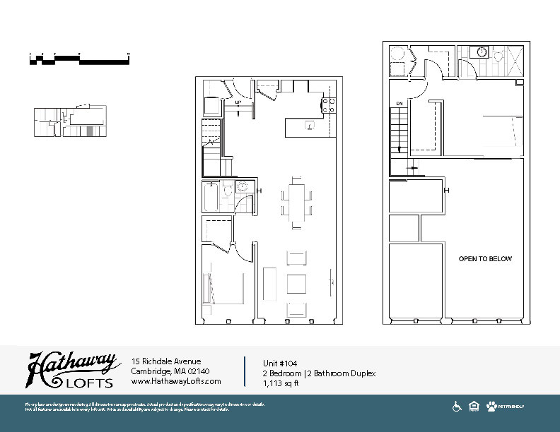 Unit 104 - 2 Bed | 2 Bath Duplex - Hathaway Lofts