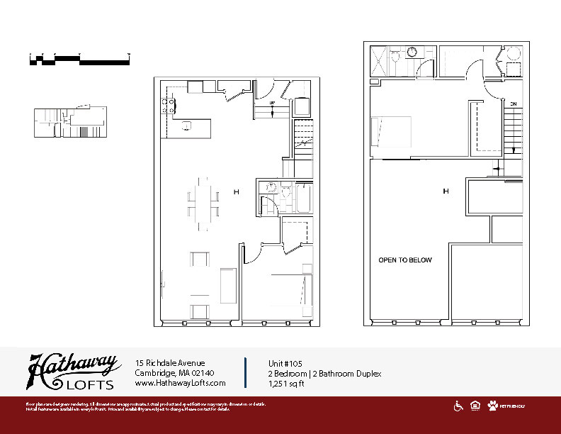 Unit 105 - 2 Bed | 2 Bath Duplex - Hathaway Lofts
