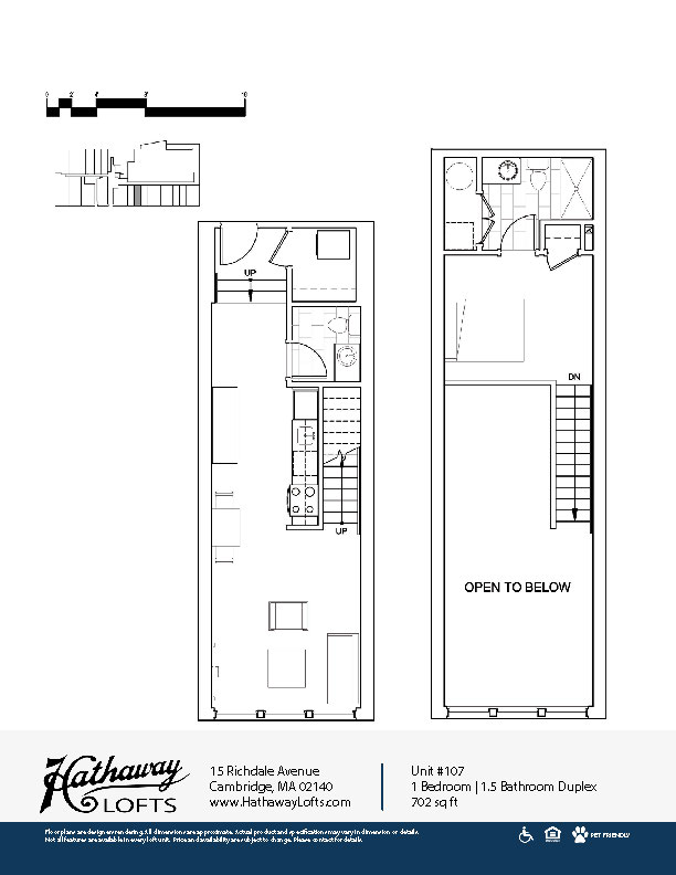 Floor Plans Hathaway Lofts Cambridge Apartments Porter
