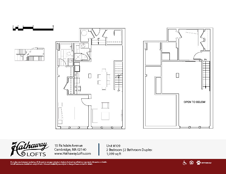 Unit 109 - 2 Bed | 2 Bath Duplex - Hathaway Lofts