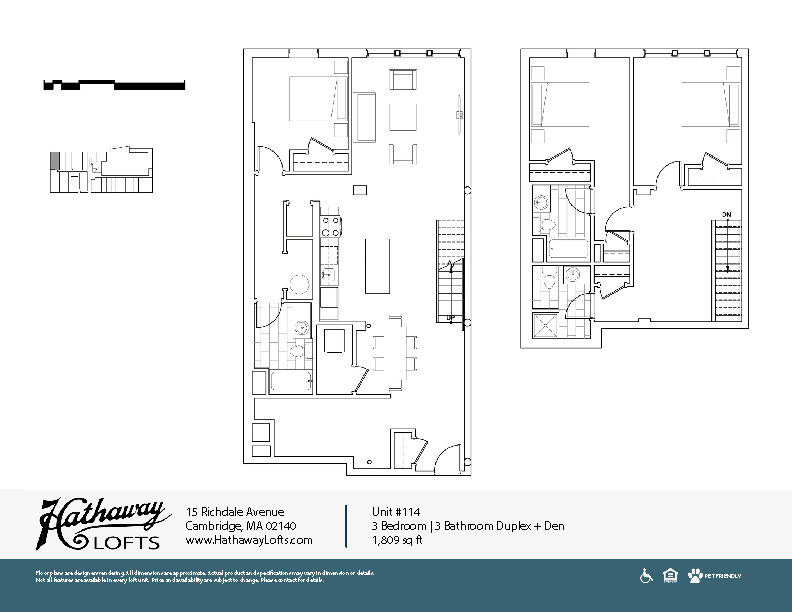 Unit 114 - 3 Bed | 3 Bath Duplex Den - Hathaway Lofts
