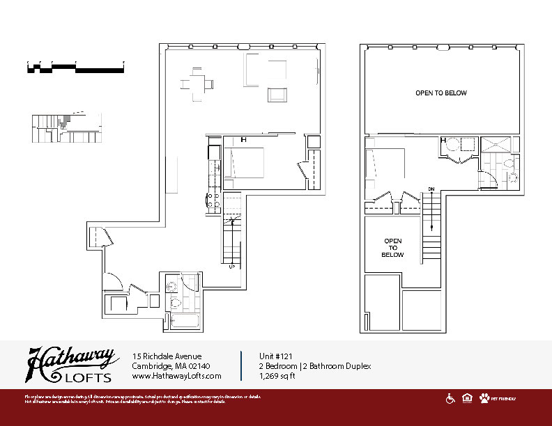 Unit 121 - 2 Bed | 2 Bath - Hathaway Lofts