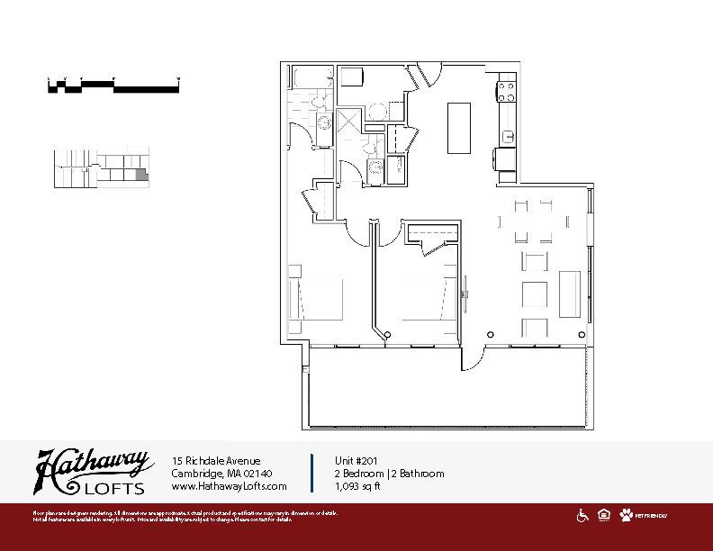 Unit 201 - 2 Bed | 2 Bath - Hathaway Lofts