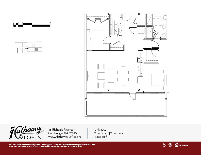 Unit 202 - 2 Bed | 2 Bath - Hathaway Lofts