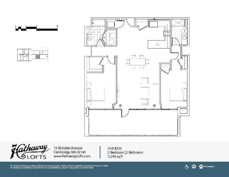 Unit 203 - 2 Bed | 2 Bath - Hathaway Lofts