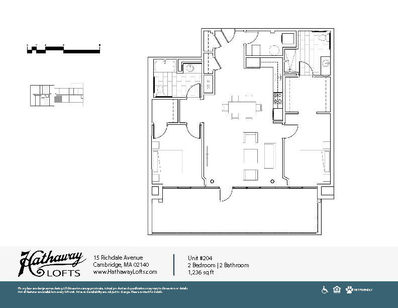Unit 204 - 2 Bed | 2 Bath - Hathaway Lofts