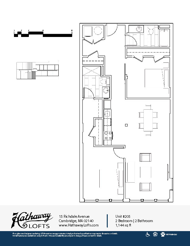 Unit 205 - 2 Bed | 2 Bath - Hathaway Lofts