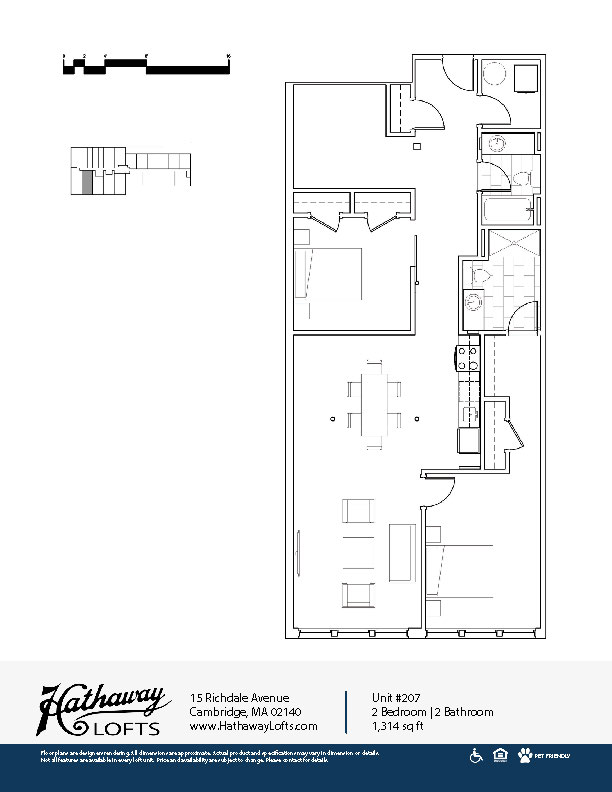 Unit 207 - 2 Bed | 2 Bath - Hathaway Lofts