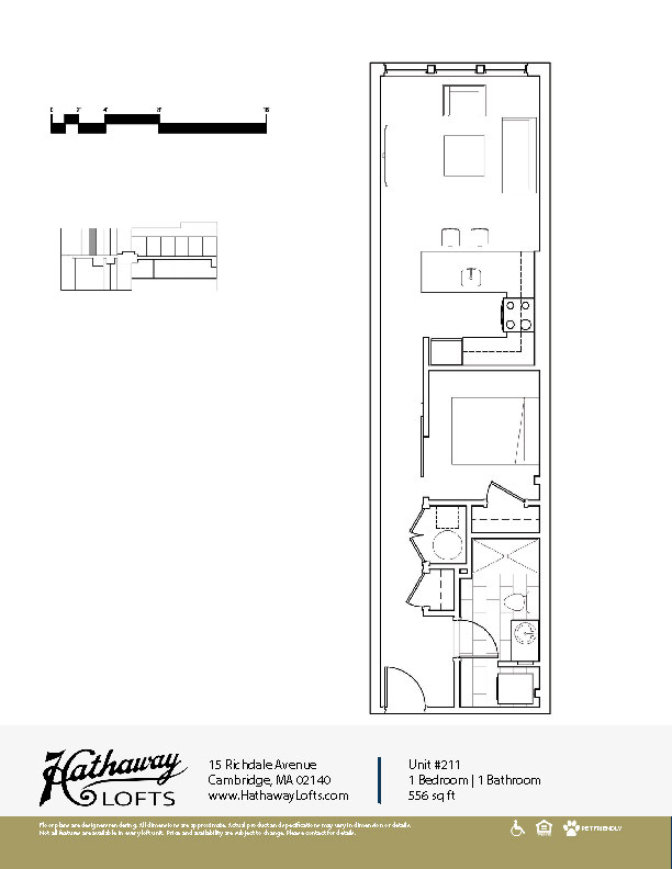 Unit 210 - 1 Bed | 1 Bath - Hathaway Lofts