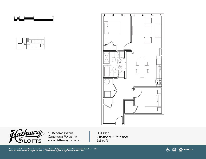 Unit 213 - 2 Bed | 2 Bath - Hathaway Lofts