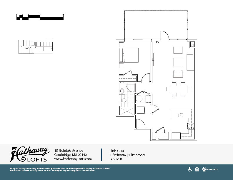 Unit 214 - 1 Bed | 1 Bath - Hathaway Lofts