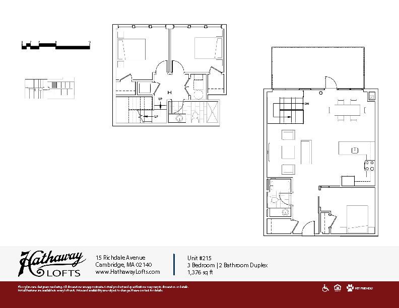 Unit 215 - 3 Bed | 2 Bath Duplex - Hathaway Lofts