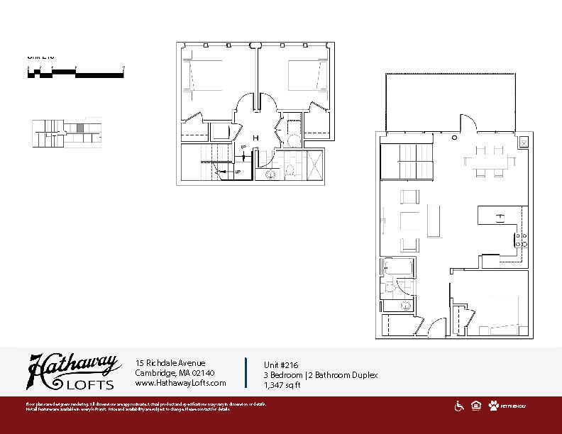 Unit 216 - 3 Bed | 2 Bath Duplex - Hathaway Lofts