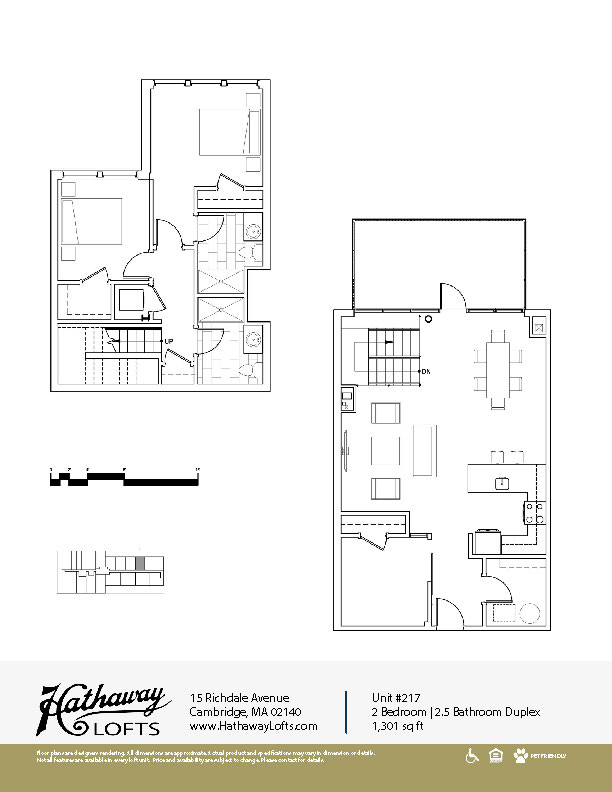 Unit 217 - 2 Bed | 2 Bath Duplex - Hathaway Lofts