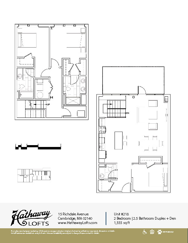Unit 218 - 2 Bed | 2.5 Bath Duplex Den - Hathaway Loft