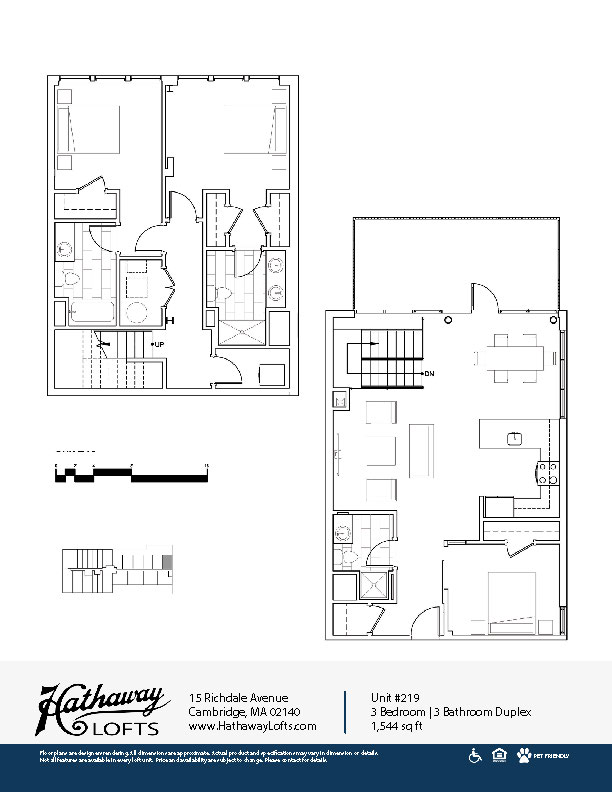 Unit 216 - 3 Bed | 3 Bath Duplex - Hathaway Lofts