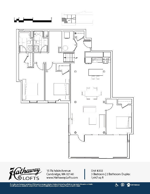 Unit 303 - 3 Bed | 2 Bath Duplex - Hathaway Lofts