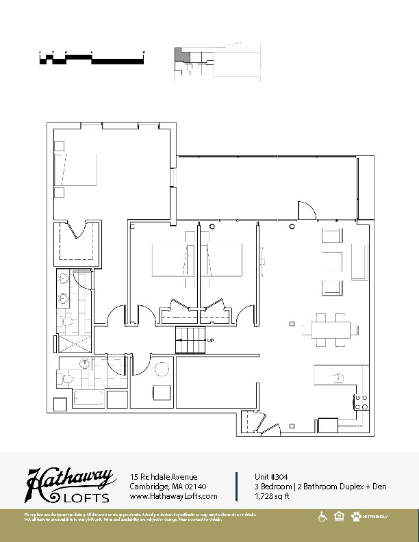 Unit 304 - 3 Bed | 2 Bath Duplex Den - Hathaway Lofts