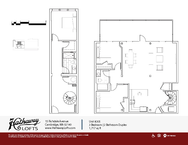 Unit 305 - 3 Bed | 2 Bath Duplex - Hathaway Lofts