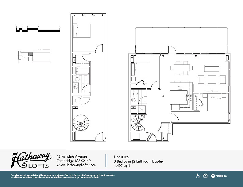 Unit 306 - 3 Bed | 2 Bath Duplex - Hathaway Lofts